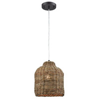Truly Coastal 30237-N Bar Harbor 1 Light 9 inch Natural Pendant Ceiling Light