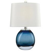 Truly Coastal 30002-BL Star 19 inch 60 watt Blue Table Lamp Portable Light