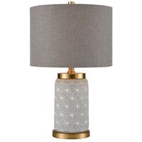 TrulyCoastal 30634-CM Rockport 20 inch 100 watt Concrete with Matte Gold Table Lamp Portable Light