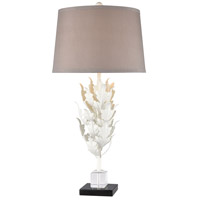 Truly Coastal 30474-WCCC Inland Sea 31 inch 150 watt White/Clear Crystal/Black Marble Table Lamp Portable Light