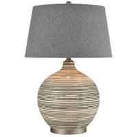 Truly Coastal 30482-G Bay St. Louis 28 inch 150 watt Grey/Off-white/Pewter Table Lamp Portable Light