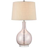 Truly Coastal 30517-P Yaquina Bay 29 inch 150 watt Pink Table Lamp Portable Light