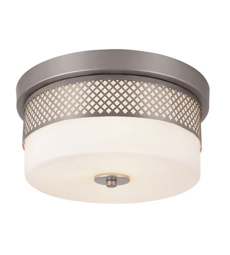 Trans Globe Lighting Signature 2 Light Flush Mount in Brushed Nickel 10007-BN photo