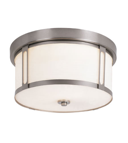 Trans Globe Lighting Signature 2 Light Flush Mount in Brushed Nickel 10011-BN photo