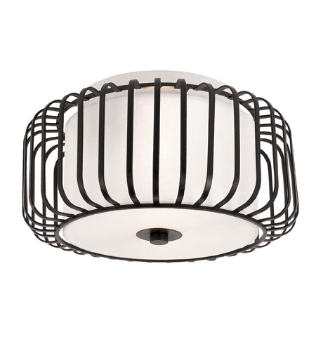 Trans Globe Lighting Signature 2 Light Flush Mount in Black 10030-BK photo