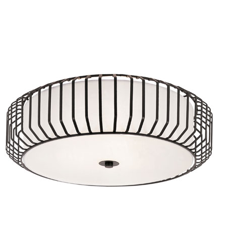 Trans Globe Lighting Signature 4 Light Flush Mount in Black 10032-BK photo