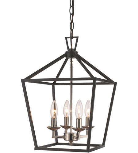 trans globe lighting 10264 pc bk lacey 4 light 12 inch polished
