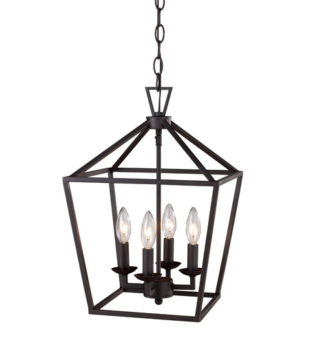 Trans Globe Lighting 10264 Rob Signature 4 Light 12 Inch Rubbed Oil Bronze Pendant Ceiling