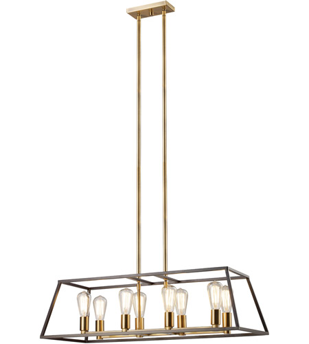 trans globe lighting 10468rob adams 8 light 14 inch rubbed oil bronze pendant ceiling