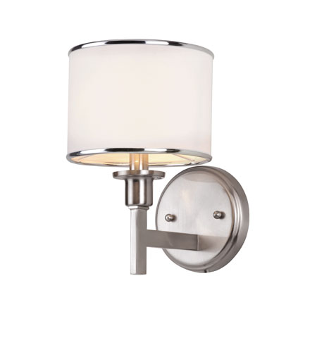 Trans Globe Lighting Contemporary 1 Light Wall Sconce in Brushed Nickel 1051-BN photo