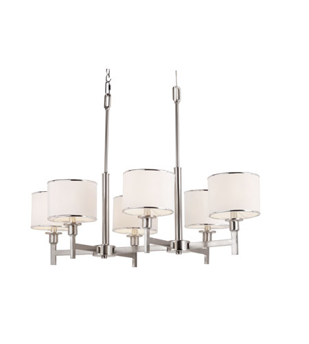 Trans Globe Lighting Contemporary 5 Light Chandelier in Brushed Nickel 1056-BN photo