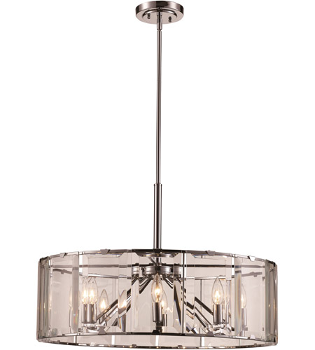 Trans Globe Lighting 10628-PC Vernon 8 Light 27 inch Polished Chrome Pendant Ceiling Light photo