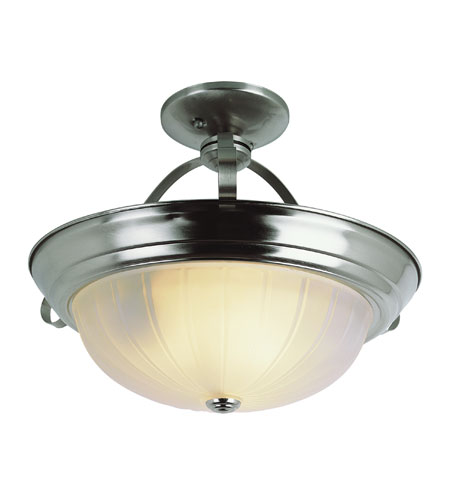 Trans Globe Lighting 13211-BN Signature 2 Light 11 inch Brushed Nickel Semi-Flush Mount Ceiling Light photo