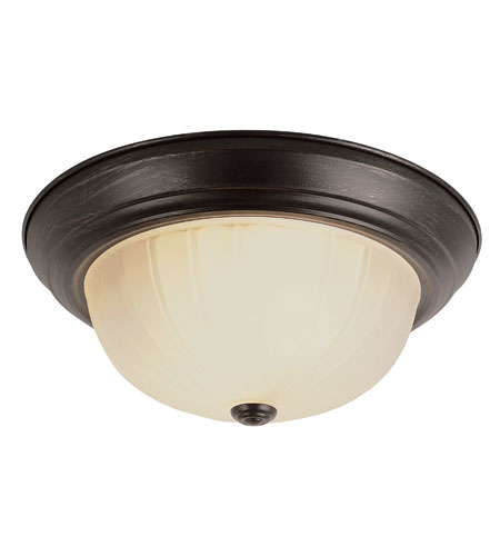 Trans Globe Signature 2 Light Flush Mount in Rubbed Oil Bronze 13213-1-ROB photo