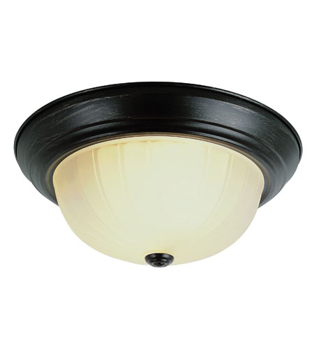 Trans Globe Lighting 13215-1-ROB Signature 3 Light 15 inch Rubbed Oil Bronze Flush Mount Ceiling Light photo