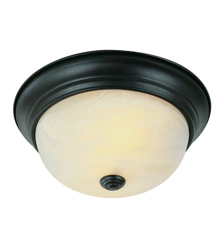 Trans Globe Lighting Signature 2 Light Flush Mount in Rubbed Oil Bronze 13617-ROB photo