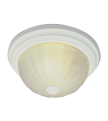Trans Globe Lighting Signature 1 Light Flush Mount in White 14010-AW photo