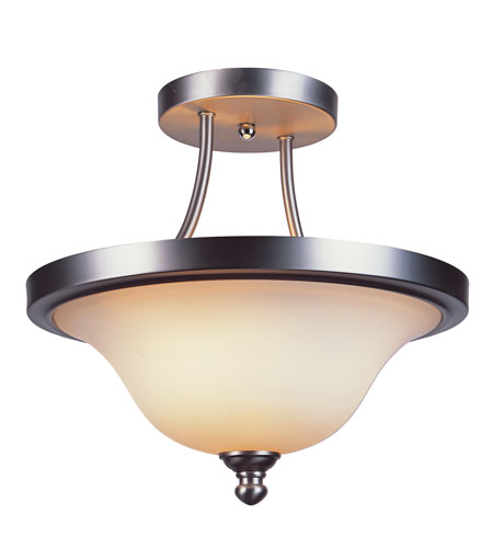 Trans Globe Lighting Signature 2 Light Semi-Flush Mount in Brushed Nickel 17015-BN photo