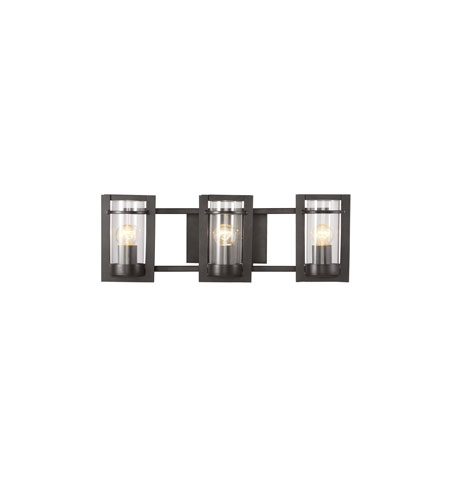Trans Globe Lighting Modern Meets Traditional 3 Light Bath Bar in Black 20033 photo
