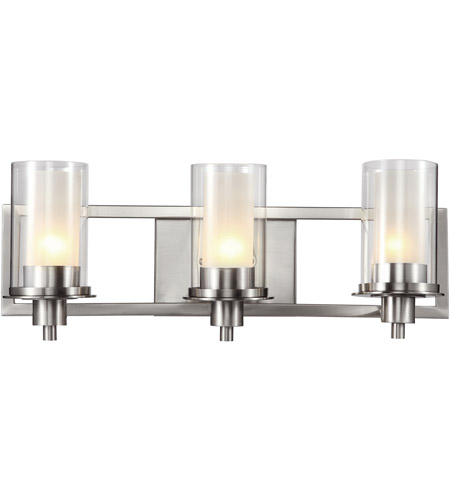 Trans Globe Lighting 20043 Odyssey 3 Light 22 Inch Brushed Nickel Vanity Bar Wall