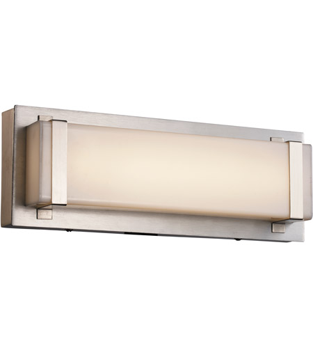 Trans globe lighting 20790 bn cleveland led 12 inch brushed nickel ada vanity bar wall