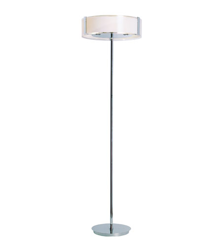 Trans Globe Lighting Contemporary 3 Light Floor Lamp in Polished Chrome 2095-PC photo