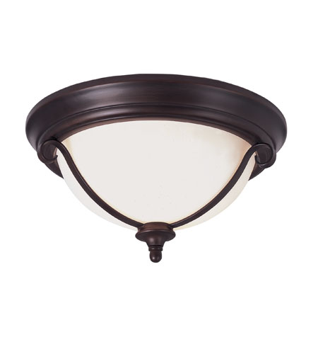Trans Globe Lighting New Century 2 Light Flush Mount in Rubbed Oil Bronze 21102-ROB photo