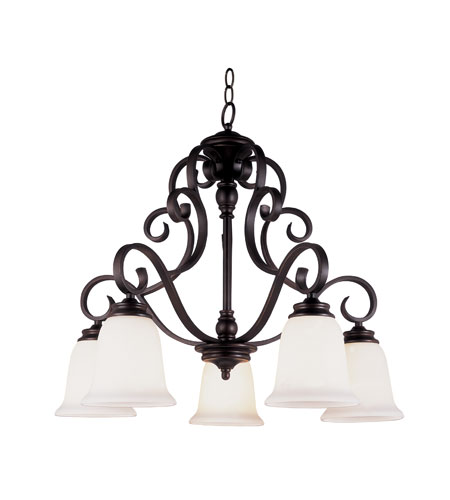 Trans Globe Lighting New Century 5 Light Chandelier in Rubbed Oil Bronze 21108-ROB photo