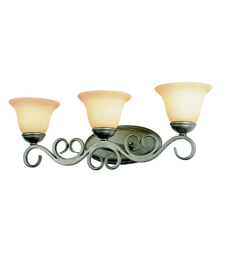 Trans Globe Lighting New Century 3 Light Wall Sconce in Antique Gold 2183-AG photo