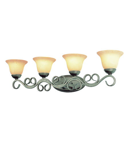 Trans Globe Lighting New Century 4 Light Wall Sconce in Antique Gold 2184-AG photo