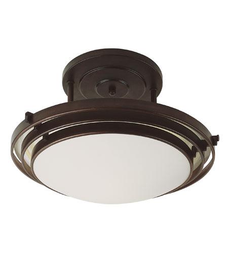 Trans Globe Lighting Signature 1 Light Semi-Flush Mount in Rubbed Oil Bronze 2482-1-ROB photo