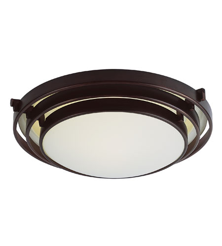 Trans Globe Lighting Signature 1 Light Flush Mount in Rubbed Oil Bronze 2484-ROB photo