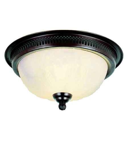 Trans Globe Lighting Signature 2 Light Flush Mount in Rubbed Oil Bronze 25111-ROB photo