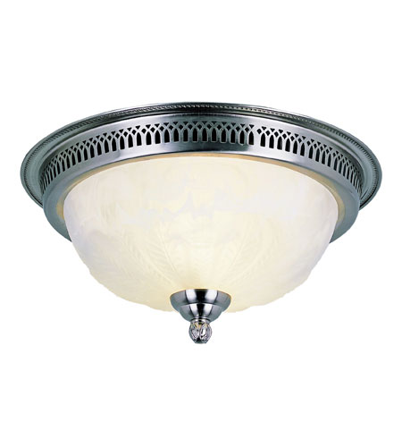 Trans Globe Lighting Signature 2 Light Flush Mount in Brushed Nickel 25113-BN photo