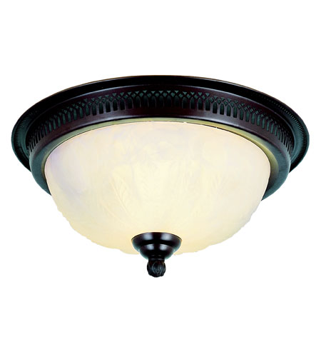 Trans Globe Lighting Signature 2 Light Flush Mount in Rubbed Oil Bronze 25115-ROB photo