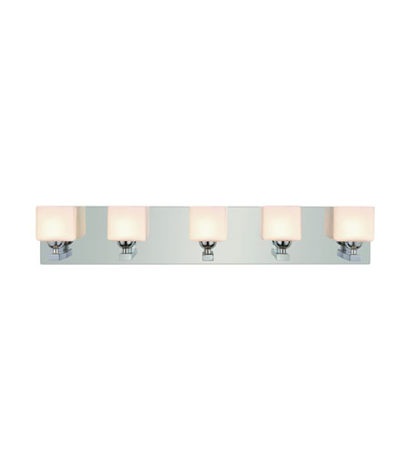 Trans Globe Lighting 2695-PC Signature 5 Light 24 inch Polished Chrome Vanity Light Wall Light photo