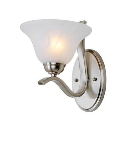 Trans Globe Lighting Signature 1 Light Wall Sconce in Brushed Nickel 2825-BN photo