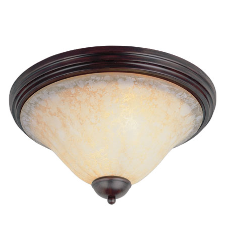 Trans Globe Lighting Back To Basics 2 Light Flush Mount in Rubbed Oil Bronze 29114-ROB photo