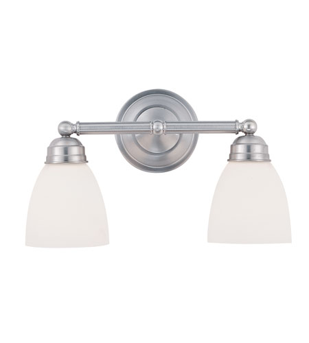 Trans Globe Lighting 3356-BN Traditional Frosted 2 Light 16 inch Brushed Nickel Vanity Light Wall Light photo