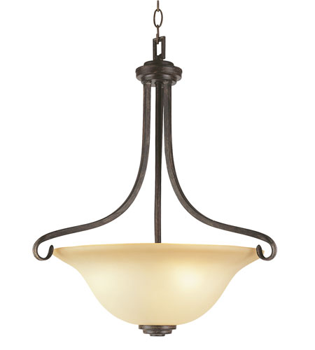 Trans Globe Lighting New Century 3 Light Pendant in Antique Brown Rust 3682-ABR photo