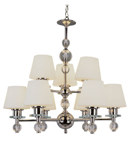 Trans Globe Lighting Modern Meets Traditional 9 Light Chandelier in Polished Chrome 3909-PC photo