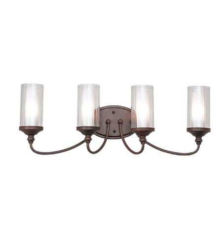 Trans Globe Fremont 4 Light Vanity Light In Rubbed Oil Bronze 3924