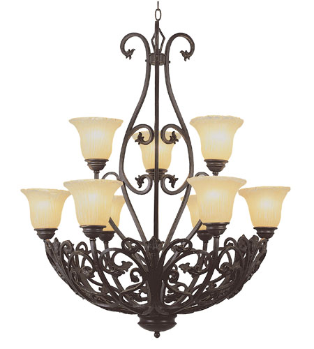 Trans Globe Lighting New Century 9 Light Chandelier 3959 photo