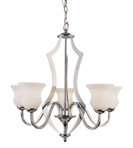 Trans Globe Lighting Contemporary 5 Light Chandelier in Polished Chrome 3985-PC photo