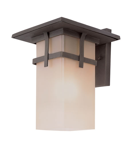 Trans Globe Lighting Craftsman 1 Light Outdoor Wall Lantern in Antique Rust 40011-AR photo