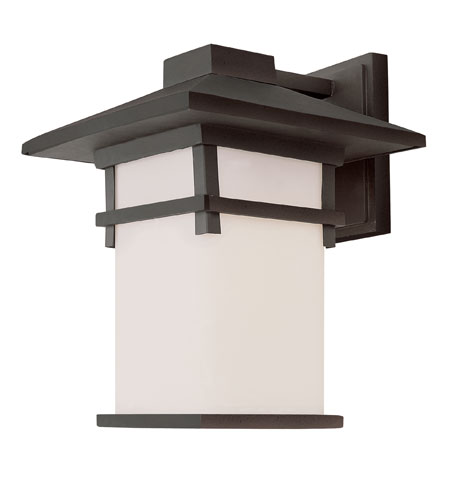 Trans Globe Lighting Craftsman 1 Light Outdoor Wall Lantern in Black 40020-BK photo