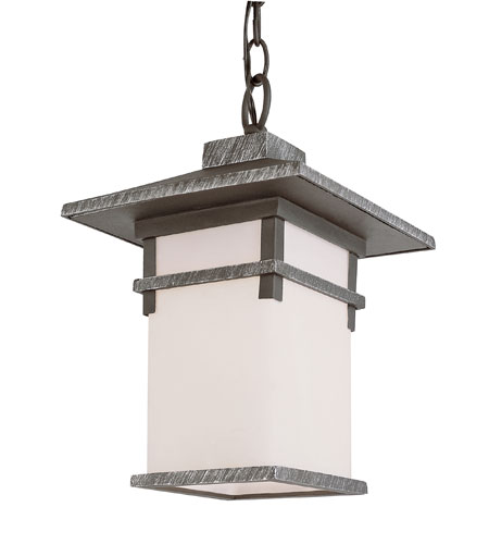 Trans Globe Lighting Craftsman 1 Light Outdoor Hanging Lantern in Swedish Iron 40026-SWI photo