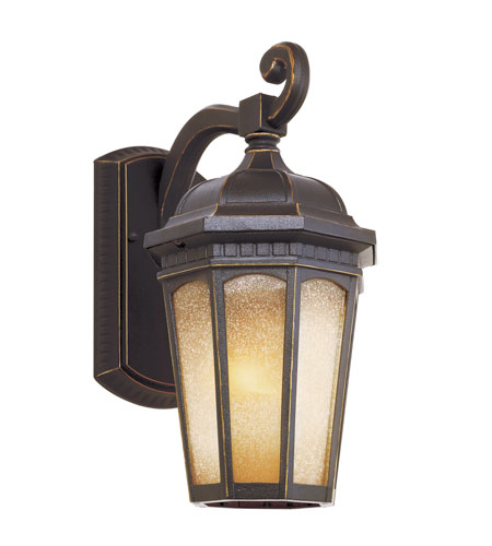 Trans Globe Lighting 40151-WB Tea Chateau 1 Light 16 inch Weathered Bronze Outdoor Wall Lantern photo