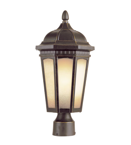 Trans Globe Lighting 40152-WB Tea Chateau 1 Light 17 inch Weathered Bronze Post Top Light photo