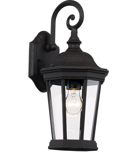 Trans Globe Lighting 40400-BK Westfield 1 Light 16 inch Black Outdoor Wall Lantern photo